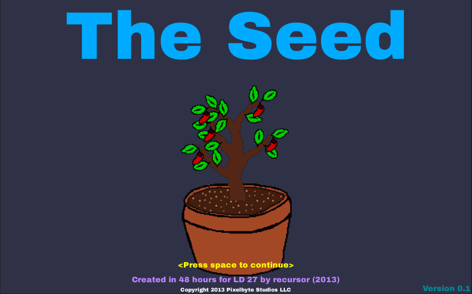 TheSeed Title Screen